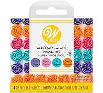 Wilton Food Colors Gel Magenta Orange Teal Purple 4 Count - 1.2 Fl. Oz.