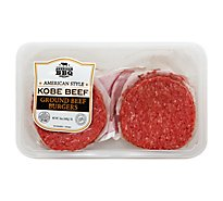 American BBQ Co American Style Kobe Beef Ground Beef Burgers - 16.00 Oz