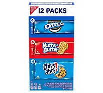NABISCO Cookies Oreo Nutter Butter Chips Ahoy! Variety Pack - 12 Count
