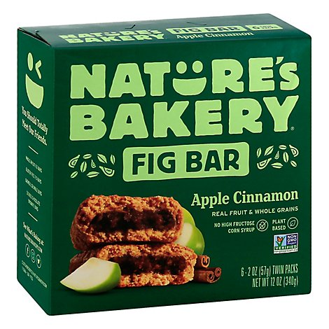 Natures Bakery Fig Bar Stone Ground Whole Wheat Apple Cinnamon - 6-2 Oz