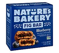 Natures Bakery Fig Bar Stone Ground Whole Wheat Blueberry - 6-2 Oz