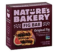 Natures Bakery Fig Bar Stone Ground Whole Wheat Original Fig - 6-2 Oz