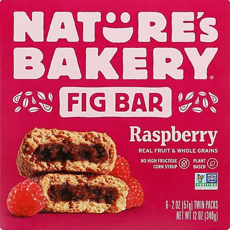 Natures Bakery Fig Bar Stone Ground Whole Wheat Raspberry - 6-2 Oz
