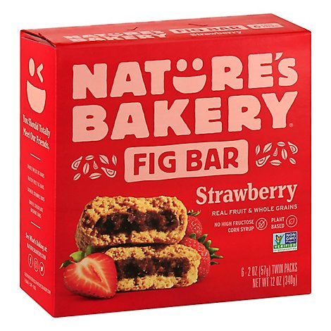 Natures Bakery Fig Bar Strawberry - 6-2 Oz