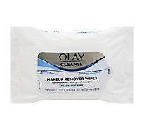 Olay Cleanse Makeup Remover Wipes Fragrance Free - 25 Count