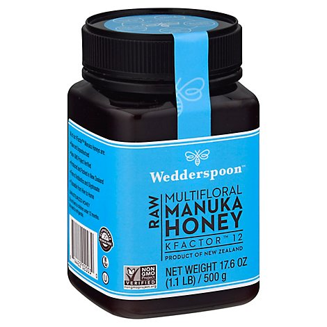 Wedderspoon Manuka Honey Raw KFactor 12 - 17.6 Fl. Oz.