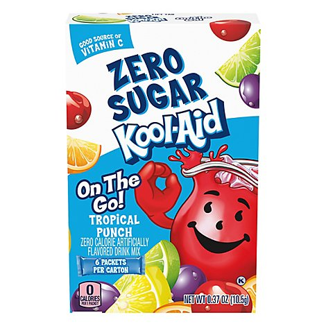 Kool Aid Sugar Free Tropical Punch On The Go - .37 Oz