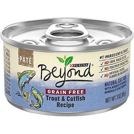 Beyond Cat Food Grain Free Pate Trout & Catfish Recipe Can - 3 Oz