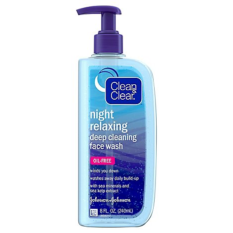 Clean & Clear Face Wash Deep Cleansing Night Relaxing - 8 Fl. Oz.