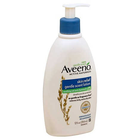 Aveeno Active Naturals Lotion Gentle Scent Skin Relief Soothing Oat and Chamomile - 12 Fl. Oz.