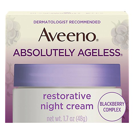 Aveeno Active Naturals Absolutely Ageless Restorative Night Cream - 1.7 Oz