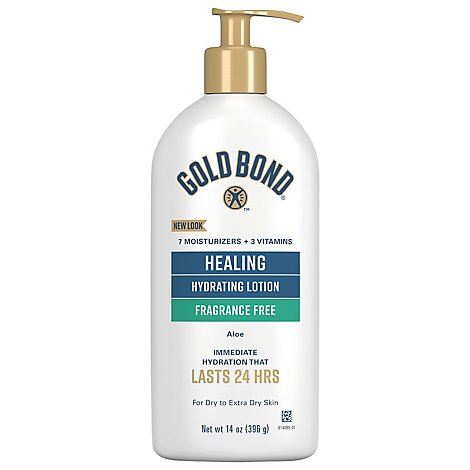 GOLD BOND Ultimate Lotion Skin Therapy Healing Aloe Fragrance Free - 14 Oz