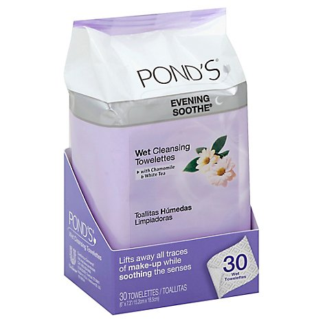 Ponds Face Towelettes Evening Soothe - 30 Count