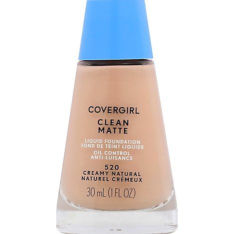 COVERGIRL Clean Liquid Foundation Oil Control Creamy Natural 520 - 1 Fl. Oz.