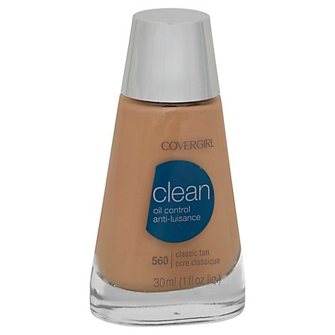 COVERGIRL Clean Liquid Foundation Oil Control Classic Tan 560 - 1 Fl. Oz.
