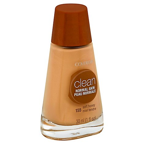 COVERGIRL Clean Liquid Foundation Normal Skin Soft Honey 155 - 1 Fl. Oz.