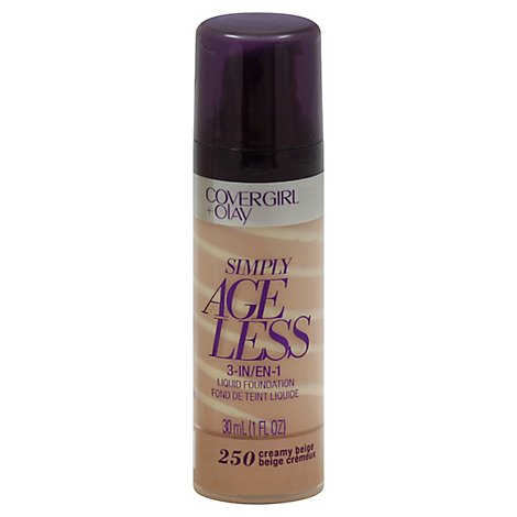 COVERGIRL + Olay Simply Ageless Liquid Foundation 3-in-1 Creamy Beige 250 - 1 Fl. Oz.