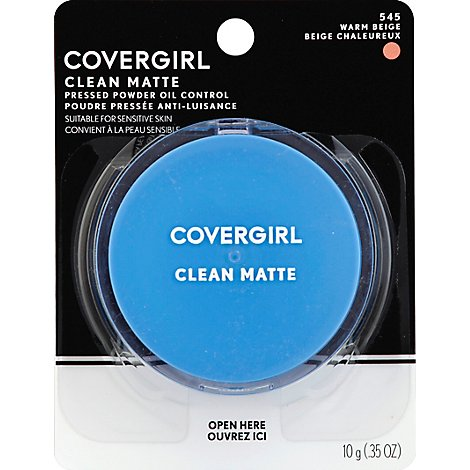COVERGIRL Clean Pressed Powder Oil Control Anti-luisance Warm Beige 545 - 0.35 Oz