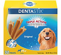 Pedigree Dentastix Dental Dog Treats Bones Original Flavor Large 32 Count - 1.72 Lb