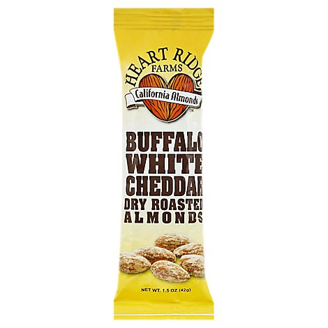 Heart Ridge Farms Almonds Dry Roasted Buffalo White Cheddar - 1.5 Oz