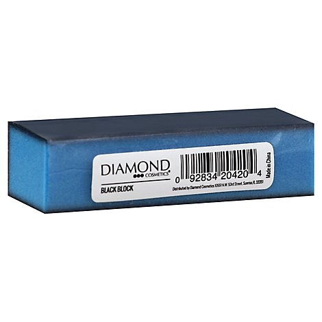 Dmnd Csmtcs Nail Blcok Black 3 Sided - Each
