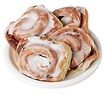 Fresh Baked Cinnamon Rolls With Cream Cheese - 4 Count