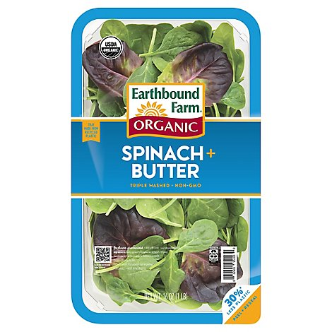 Earthbound Farm Organic Baby Spinach & Baby Butter Lettuce - 16 Oz