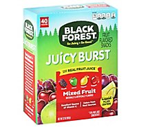 Black Forest Fruit Flavored Snacks Fruit Medleys Juicy Center Mixed Fruit - 40-0.8 Oz