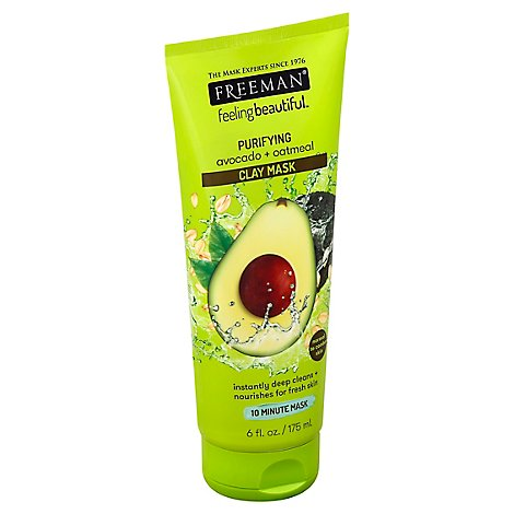 Freeman Clay Masque Avocado/Oatmeal - 6 Oz