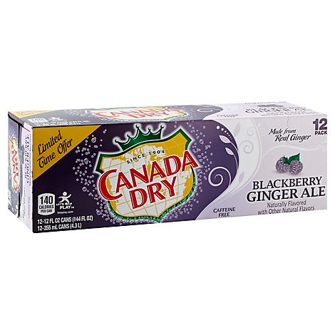 Canada Dry Blackberry Ginger Ale - 12-12 Fl. Oz.