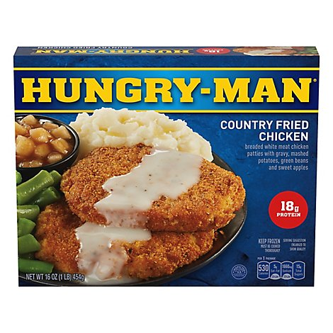HUNGRY-MAN Frozen Meal Country Fried Chicken - 16 Oz