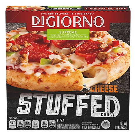 DIGIORNO Pizza Cheese Stuffed Crust Supreme Frozen - 8.9 Oz