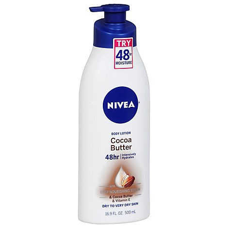 NIVEA Body Lotion Intensive Hydrates Skin Cocoa Butter - 16.9 Fl. Oz.
