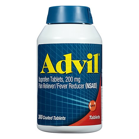 Advil Ibuprofen Tablets 200mg Pain Reliever NSAID Coated - 300 Count