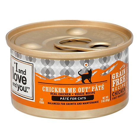 I And Love And You Cat Food Natural Chicken Me Out Recipe Can - 3 Oz