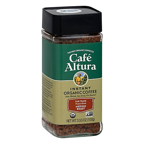 Cafe Altura Coffee Organic Instant - 3.53 Oz