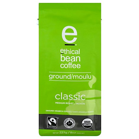 ethical bean coffee Coffee Ground Medium Roast Classic - 8 Oz