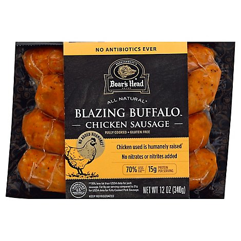 Boars Head Sausage Chicken Blazing Buffalo - 12 Oz