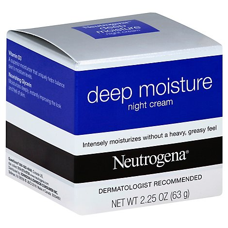 Neutrogena Face Deep Moisture Night Cream - 2.25 Oz