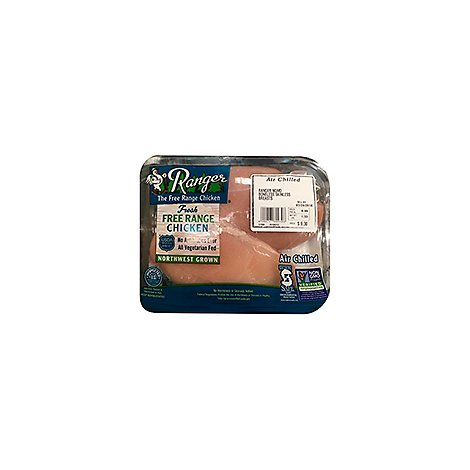 Ranger The Free Range Chicken Breast Boneless Skinless - 1.00 LB