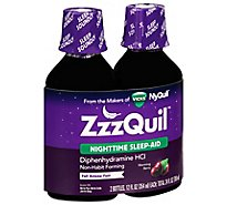 Vicks ZzzQuil Nighttime Sleep Aid Warming Berry - 2-12 Fl. Oz.