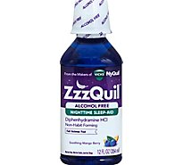 ZzzQuil Nighttime Sleep Aid Liquid Free Of Alcohol Soothing Berry - 12 Fl. Oz.