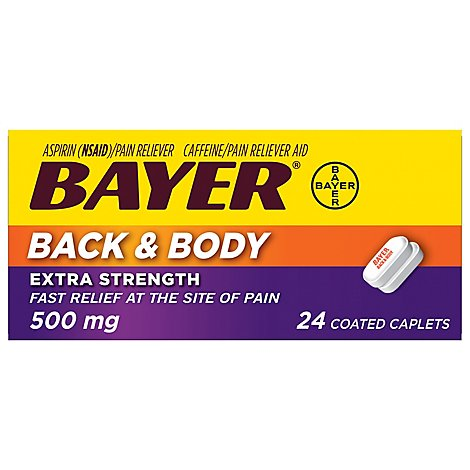 Bayer Back & Body Extra Strength Coated Caplets - 24 Count
