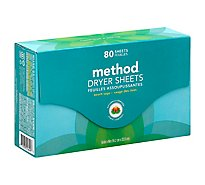 Method Dryer Sheets Beach Sage Box - 80 Count