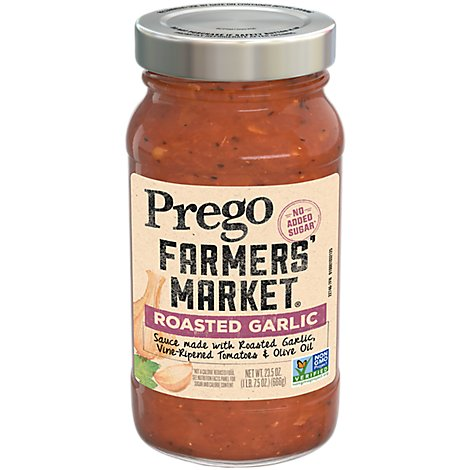 Prego Farmers Market Sauce Roasted Garlic - 23.5 Oz