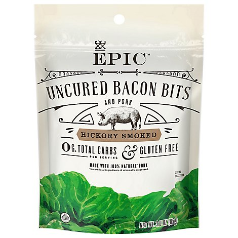EPIC Bacon Bits Uncured Hickory Smoked - 3 Oz