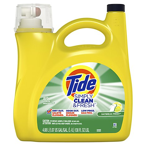 Tide Laundry Detergent Liquid Simply Clean & Fresh Daybreak Fresh - 138 Fl. Oz.