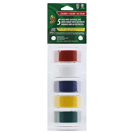 Manco Plastic Tape Colored Electronic - 5 Count