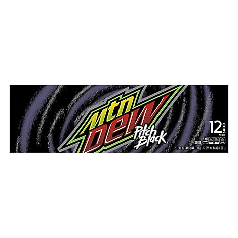 Mtn Dew Soda Pitch Black - 12-12 Fl. Oz.