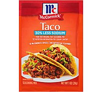 McCormick Seasoning Mix Taco 30% Less Sodium - 1 Oz